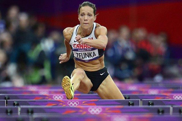 Jessica Zelinka a participé à l'heptathlon aux Jeux... (Photo Sean Kilpatrick, La Presse Canadienne)