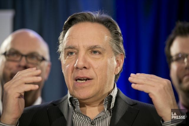 François Legault, chef de la CAQ... (David Boily, La Presse)