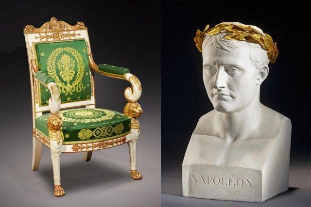 À gauche, Georges Jacob-Desmalter, fauteuil commandé par le... (Photo fournie par le collectionneur)