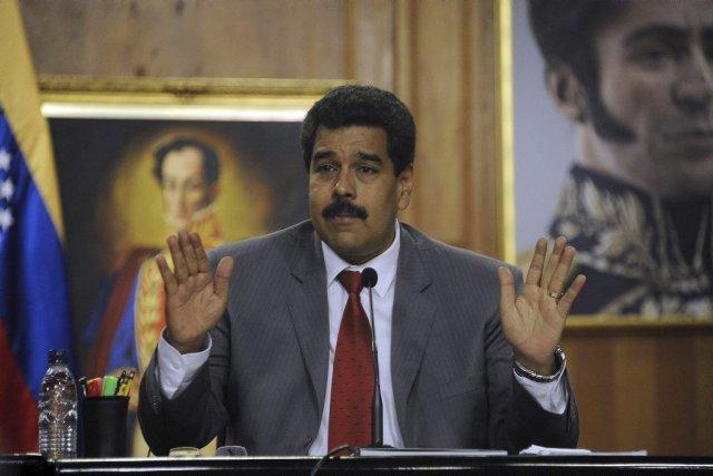 Première cible de la grogne, Nicolas Maduro, élu... (PHOTO LEO RAMIREZ, AFP)