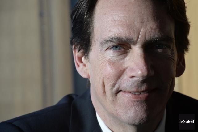 Pierre Karl Péladeau, candidat du Parti québécois dans... (PHOTO JEAN-MARIE VILLENEUVE, LE SOLEIL)