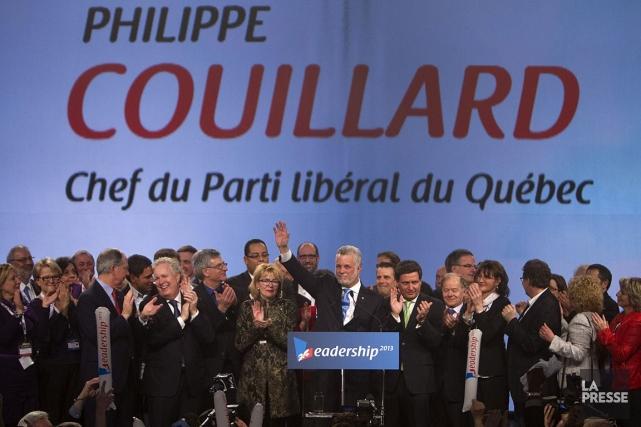 Philippe Couillard a été élu chef du Parti... (ARCHIVES, La Presse)