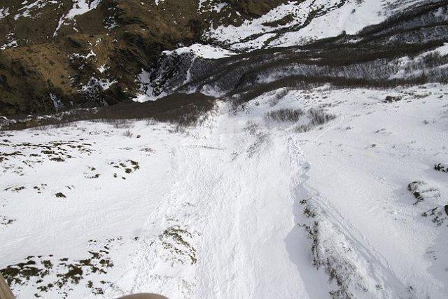 Les risques d'avalanche étaient accrus dans la région où deux Montréalais, un... (Photo archives)