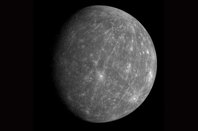 Le diamètre de Mercure, la planète la plus... (Photo fournie par la NASA)