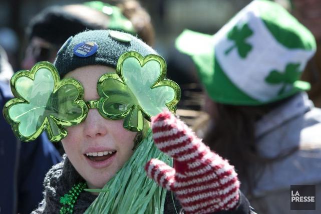 Le défilé de la Saint-Patrick de Montréal est... (PHOTO ROBERT SKINNER, ARCHIVES LA PRESSE)