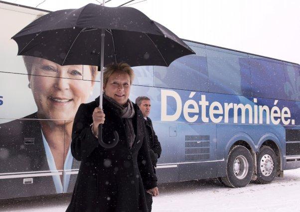 Le premier tiers de la campagne électorale est derrière elle. Et Pauline Marois... (Photo Jacques Boissinot, La Presse Canadienne)