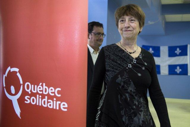 Françoise David de Québec solidaire... (Photo Paul Chiasson, PC)