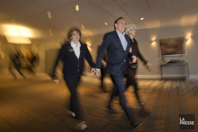François Legault, le chef de la Coalition avenir... (PHOTO IVANOH DEMERS, LA PRESSE)