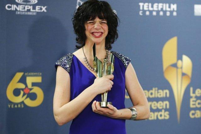 L'actrice Gabrielle Marion-Rivard a remporté dimanche le prix... (Photo: Reuters)