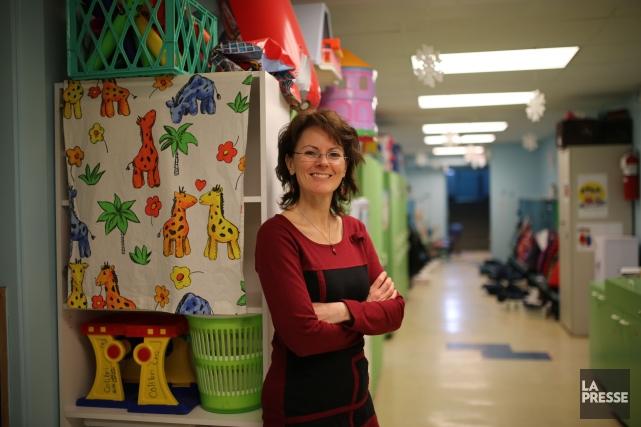 La directrice du CPE Mistigri, Johanne Marquis.... (Photo Martin Chamberland, La Presse)
