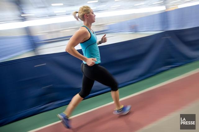 Karine Belleau-Béliveau (ici à l'entraînement) a terminé au... (Photo David Boily, La Presse)