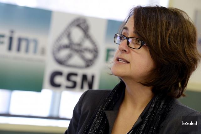 Francine Lévesque, vice-présidente de la CSN... (Photothèque Le Soleil, Erick Labbé)