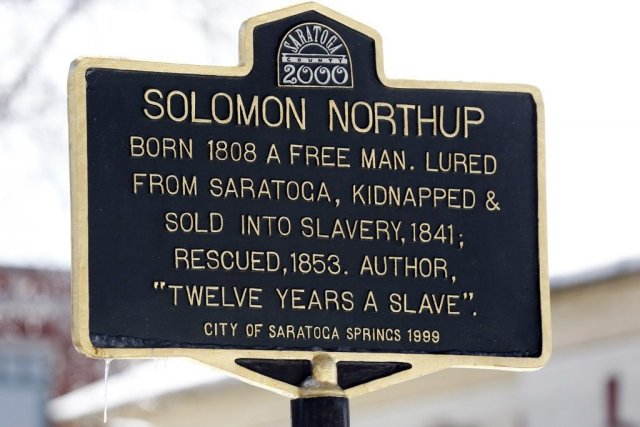 A Solomon Northup historical marker is seen on... (Photo: AP)