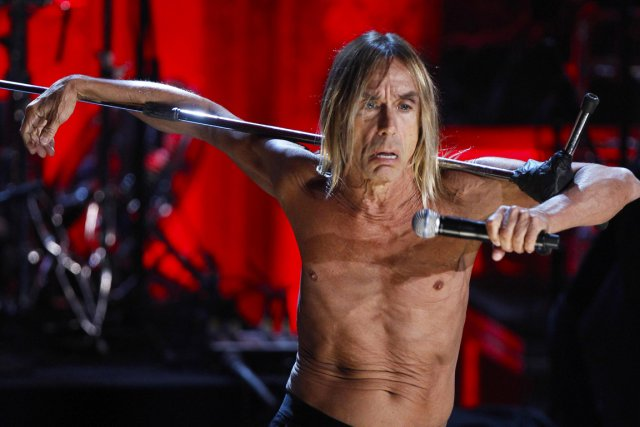Le chanteur Iggy Pop lors d'un concert avec... (Photo Lucas Jackson, archives Reuters)