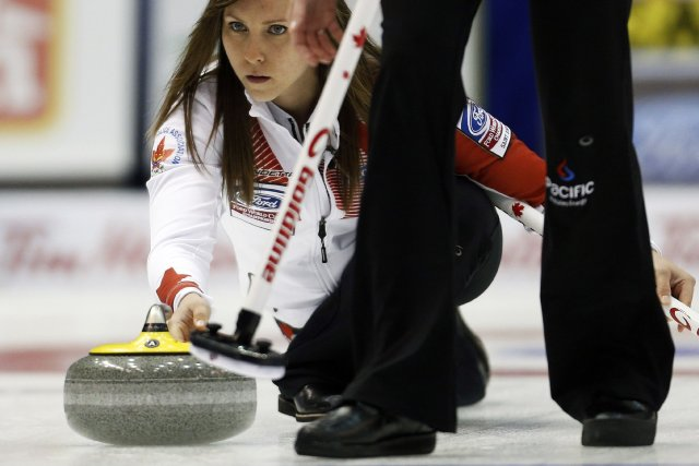 La Canadienne Rachel Homan... (Photo MATHIEU BELANGER, Reuters)
