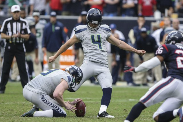 Le botteur de précision Steven Hauschka... (Photo Troy Taormina, USA Today Sports)