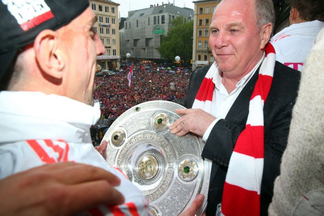 Le président du Bayern Munich, Uli Hoeness, a... (Photo Alexander Hassenstein, archives AFP)