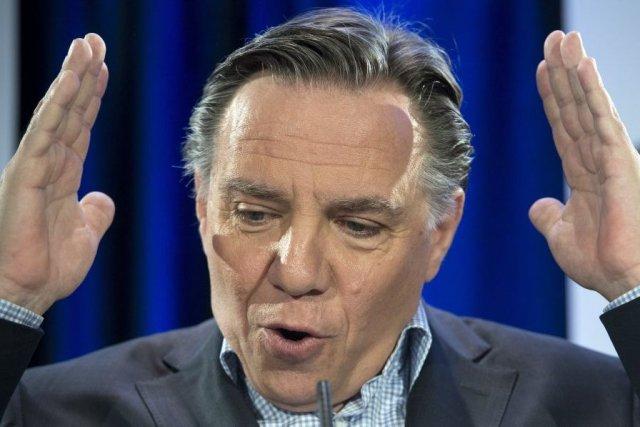 Cet avant-midi, François Legault a déploré l'erreur de... (Photo Paul Chiasson, La Presse Canadienne)