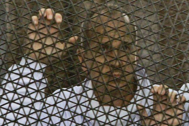 Peter Greste (sur la photo) et ses confrères... (PHOTO MOHAMMED ABU ZAID, AP)