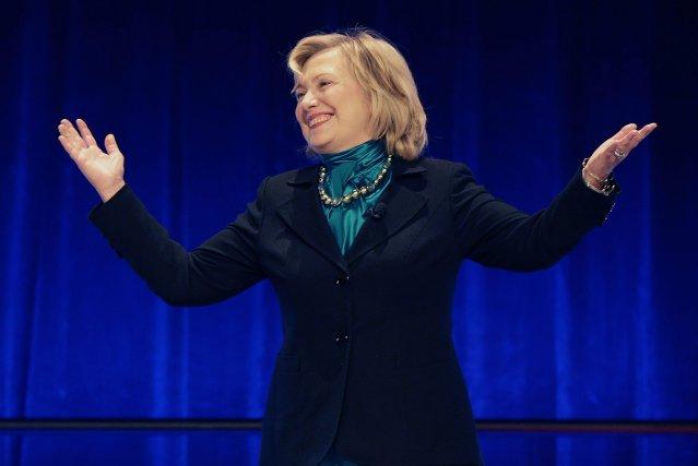 L'ex-secrétaire d'État et première dame des États-Unis,Hillary Clinton... (Photo Gerald Herbert, AP)