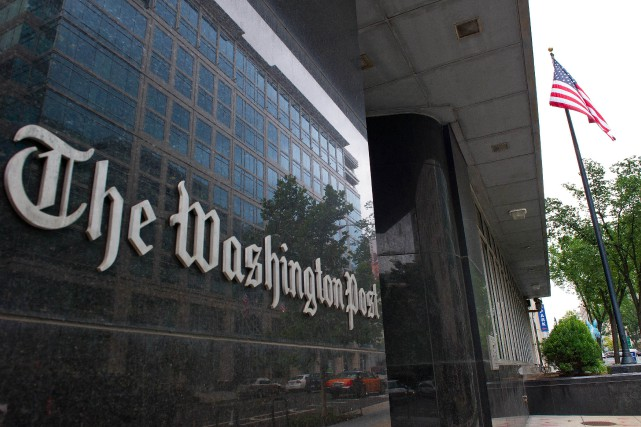 Les bureaux du Washington Post... (Photo KAREN BLEIER, AFP)
