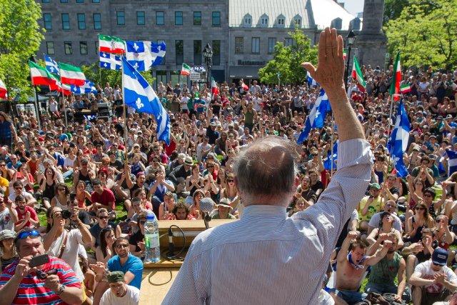 L'appui majoritaire à la souveraineté est maintenant l'apanage... (Photo Edouard Plante-Fréchette)