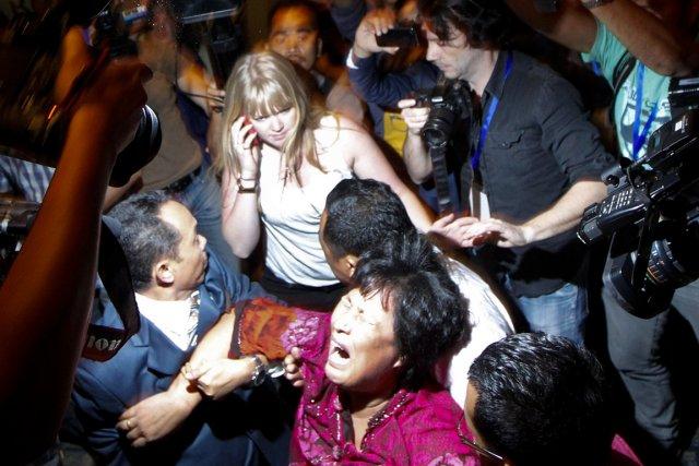 Des proches de passagers chinois furieux ont fait... (PHOTO EDGAR SU, REUTERS)