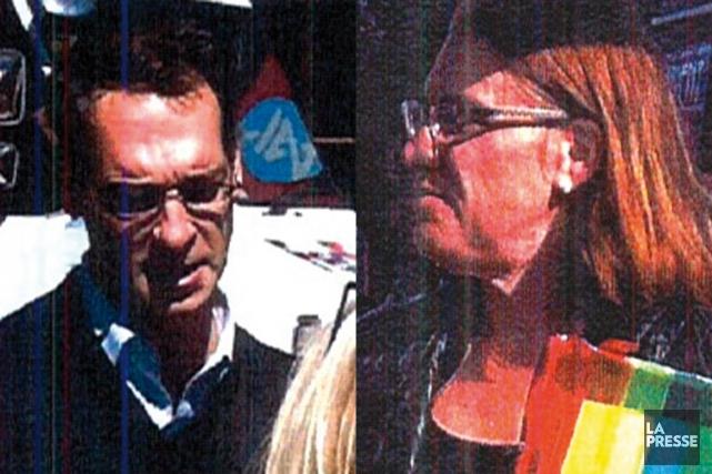 Les deux suspects.... (Photo La Presse)