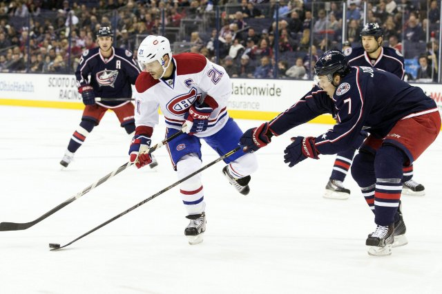 Les Blue Jackets tentent d'accéder aux séries pour... (Photo Greg Bartram, USA Today Sports)