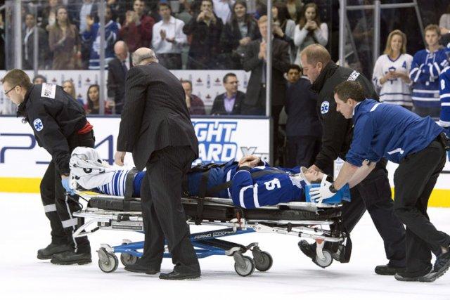Les Maple Leafs de Toronto ont indiqué que Paul Ranger se trouvait dans un état... (Photo: AFP)