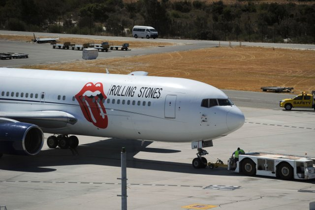 L'avion privé des Rolling Stones, dont la carlingue... (Photo: AFP)
