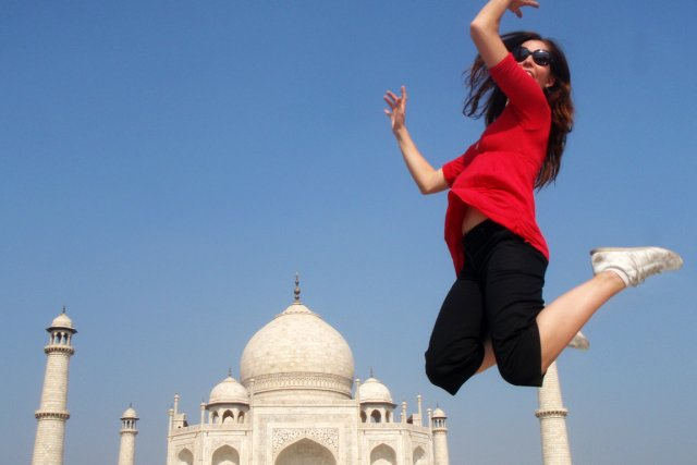 En Inde.... (Photo fournie par Sophie Reis)