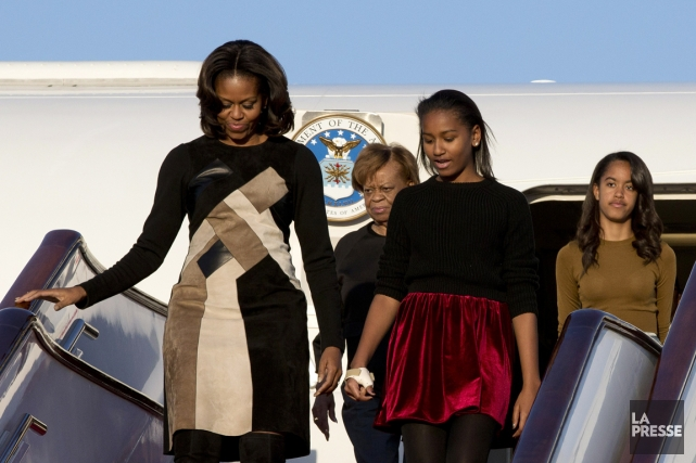 Michelle Obama voyage avec sa mère et ses... (PHOTO ALEXANDER F. YUAN, AFP)