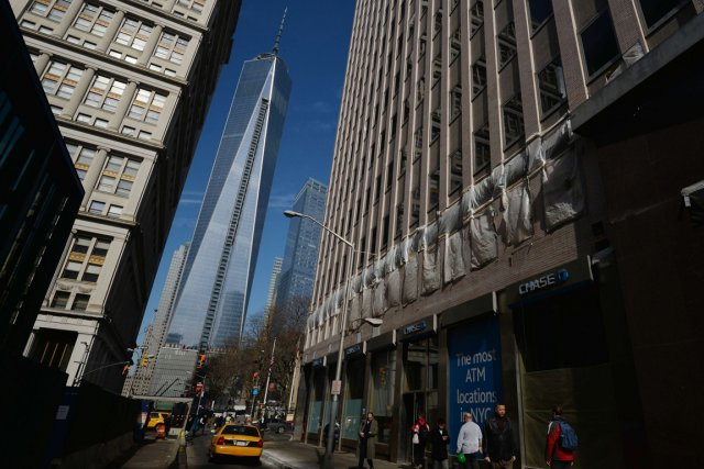 La nouvelle tour du World Trade Center, à... (Photo Stan Honda, AFP)