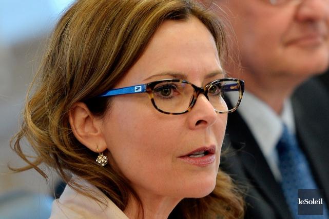 La conseillère Anne Guérette... (Photothèque Le Soleil, Erick Labbé)