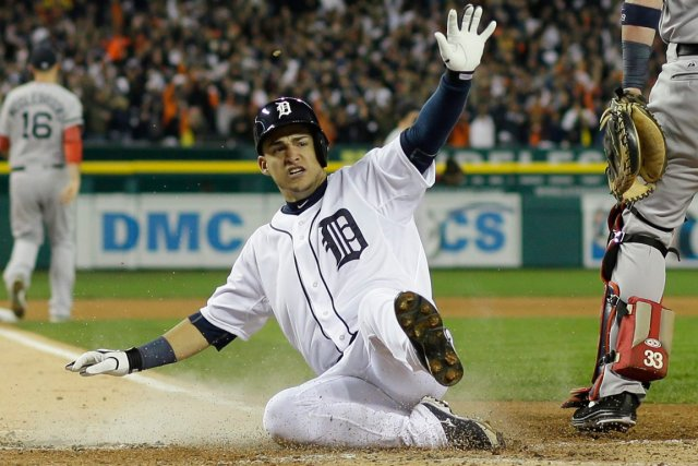 L'arrêt-court des Tigers de Detroit, Jose Iglesias.... (Photo Matt Slocum, AP)