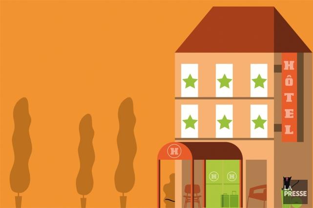 Imaginez le scénario. Après avoir réservé votre hôtel ou votre gîte en ligne,... (Illustration Julien Chung, La Presse)