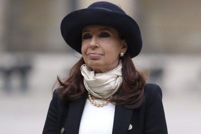 Cristina Kirchner à son arrivée à Paris.... (Photo: AFP)