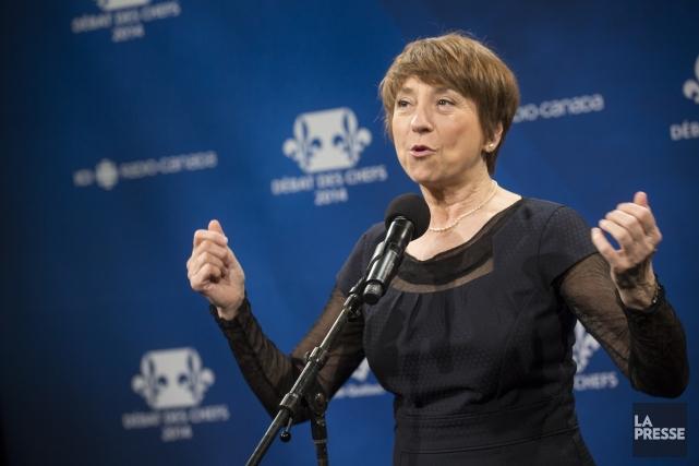 La chef de Québec solidaire, Françoise David... (PHOTO OLIVIER PONTBRIAND, LA PRESSE)