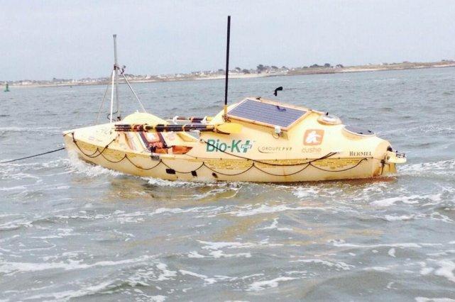 Le Hermel après 130 jours en mer... (Photo fournie par Mylène Paquette)