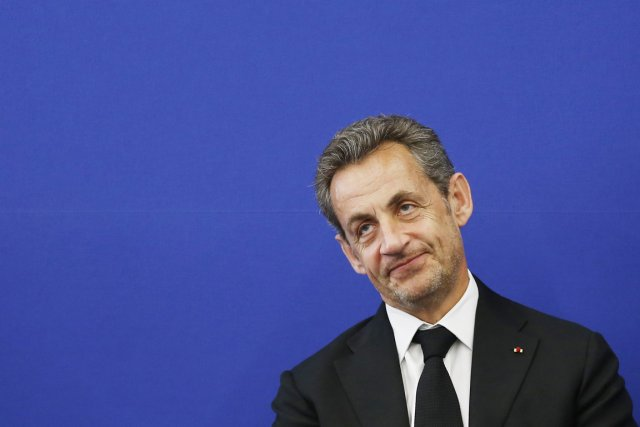 L'ex-président français Nicolas Sarkozy.... (PHOTO VALERY HACHE, AFP)