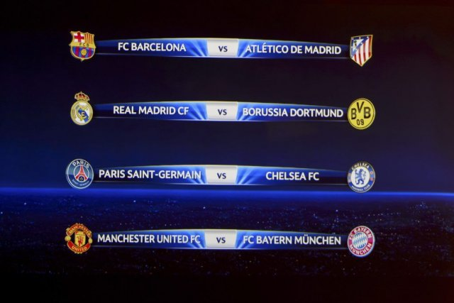 Le tableau des quarts de finale 2014.Ces matchs... (PHOTO FABRICE COFFRINI, AFP)