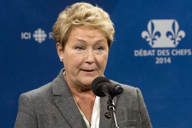 Pauline Marois lors du débat des chefs, jeudi... (Photo La Presse Canadienne)