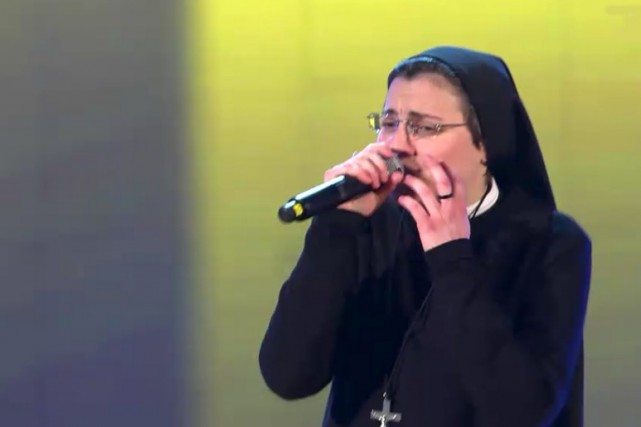 Soeur Cristina... (Photo: The Voice of Italy)