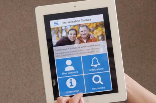 L'application mobile fournit des alertes sur les éclosions... (Photo ImmunizeCA)