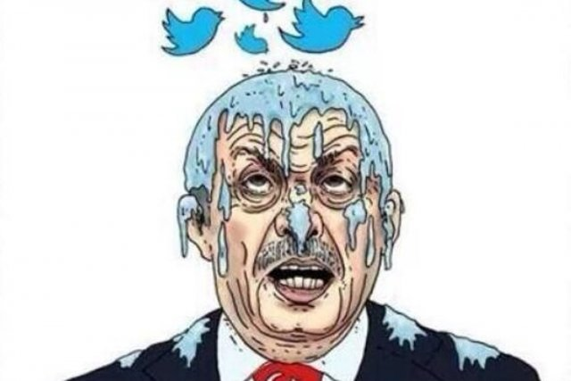 Pour dénoncer le blocage de Twitter par Ankara, les internautes turcs ne... (ILLUSTRATION LIBERATION.FR)