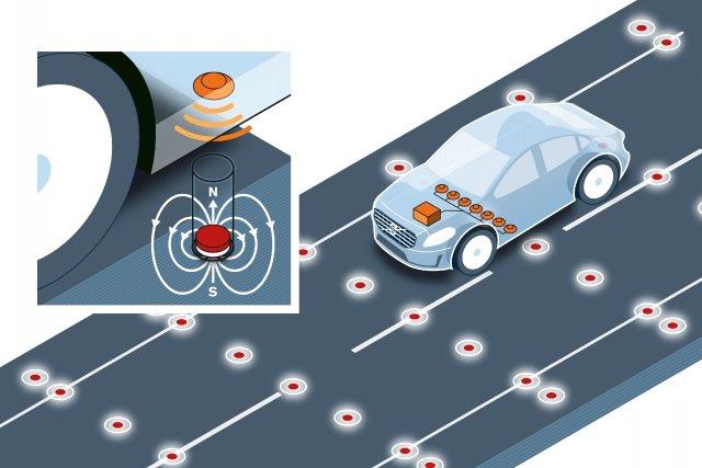 Volvo envisage les aimants de 4 cm de... (Illustration fournie par Volvo)