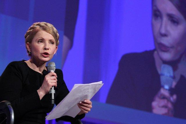 Ioulia Timochenko, le 6 mars dernier, lors d'une... (Photo Peter Muhly, AFP)