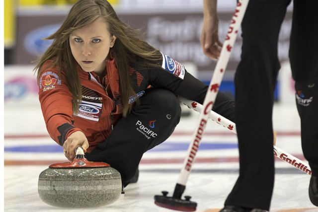 Rachel Homan lors du match contre la Suisse,... (Photo Andrew Vaughan, PC)