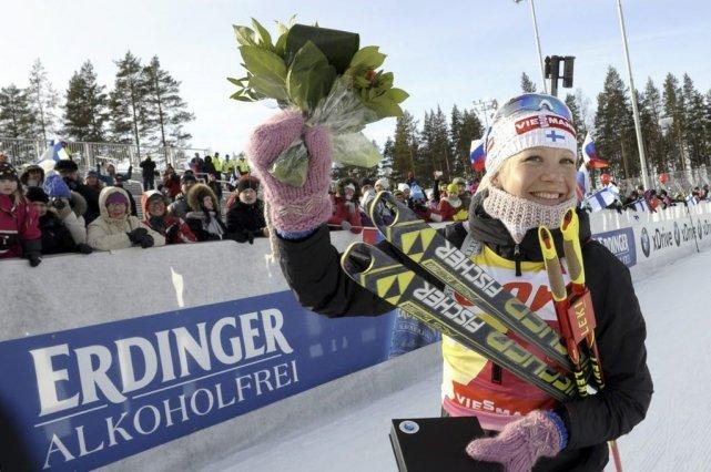 Kaisa Mäkäräinen... (PHOTO HEIKKI SAUKKOMAA, AFP)